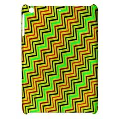 Green Red Brown Zig Zag Background Apple Ipad Mini Hardshell Case by BangZart