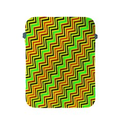 Green Red Brown Zig Zag Background Apple Ipad 2/3/4 Protective Soft Cases