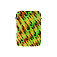 Green Red Brown Zig Zag Background Apple Ipad Mini Protective Soft Cases by BangZart