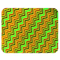 Green Red Brown Zig Zag Background Double Sided Flano Blanket (medium)  by BangZart