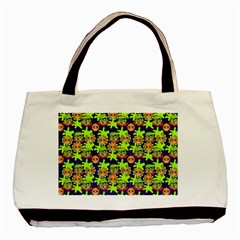 Smiley Monster Basic Tote Bag by BangZart