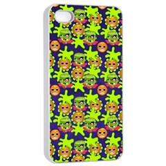 Smiley Monster Apple Iphone 4/4s Seamless Case (white) by BangZart