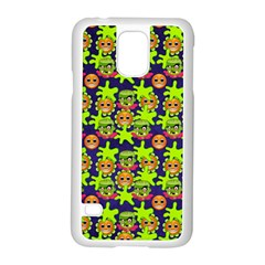 Smiley Monster Samsung Galaxy S5 Case (white) by BangZart