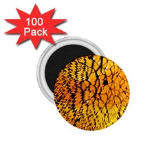 Yellow Chevron Zigzag Pattern 1 75  Magnets (100 Pack)  by BangZart