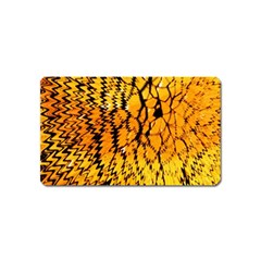 Yellow Chevron Zigzag Pattern Magnet (name Card) by BangZart