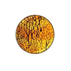 Yellow Chevron Zigzag Pattern Hat Clip Ball Marker (10 Pack) by BangZart