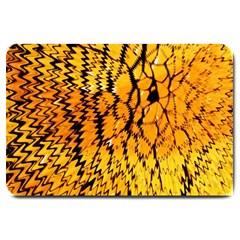 Yellow Chevron Zigzag Pattern Large Doormat  by BangZart
