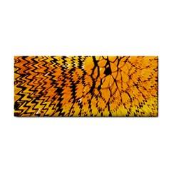 Yellow Chevron Zigzag Pattern Cosmetic Storage Cases by BangZart