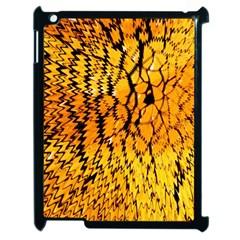 Yellow Chevron Zigzag Pattern Apple Ipad 2 Case (black) by BangZart