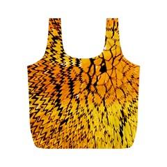 Yellow Chevron Zigzag Pattern Full Print Recycle Bags (m)  by BangZart