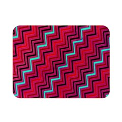 Red Turquoise Black Zig Zag Background Double Sided Flano Blanket (mini)  by BangZart