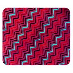 Red Turquoise Black Zig Zag Background Double Sided Flano Blanket (small)  by BangZart