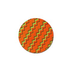 Orange Turquoise Red Zig Zag Background Golf Ball Marker (10 Pack) by BangZart
