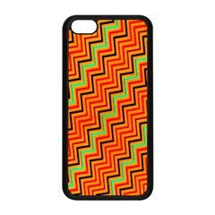 Orange Turquoise Red Zig Zag Background Apple Iphone 5c Seamless Case (black) by BangZart
