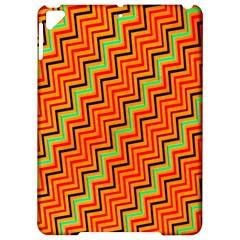 Orange Turquoise Red Zig Zag Background Apple Ipad Pro 9 7   Hardshell Case by BangZart