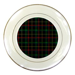 Tartan Plaid Pattern Porcelain Plates by BangZart