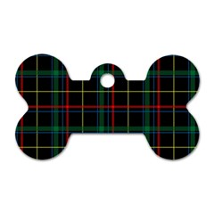 Tartan Plaid Pattern Dog Tag Bone (two Sides) by BangZart