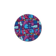 Hipster Pattern Animals And Tokyo Golf Ball Marker (10 Pack) by BangZart