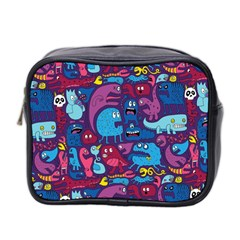 Hipster Pattern Animals And Tokyo Mini Toiletries Bag 2 Side by BangZart