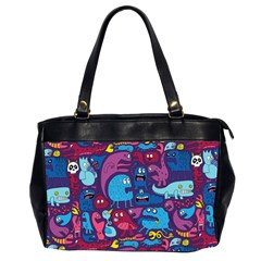 Hipster Pattern Animals And Tokyo Office Handbags (2 Sides)  by BangZart