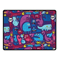 Hipster Pattern Animals And Tokyo Fleece Blanket (small) by BangZart