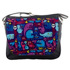 Hipster Pattern Animals And Tokyo Messenger Bags by BangZart