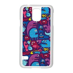 Hipster Pattern Animals And Tokyo Samsung Galaxy S5 Case (white) by BangZart