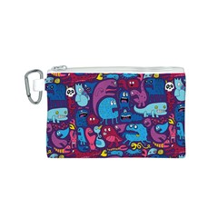 Hipster Pattern Animals And Tokyo Canvas Cosmetic Bag (s)