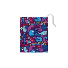 Hipster Pattern Animals And Tokyo Drawstring Pouches (xs)  by BangZart
