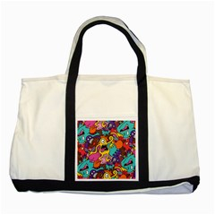 Monster Patterns Two Tone Tote Bag by BangZart