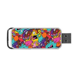 Monster Patterns Portable Usb Flash (one Side) by BangZart