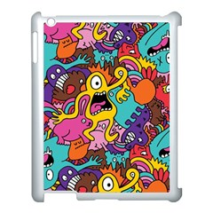 Monster Patterns Apple Ipad 3/4 Case (white) by BangZart