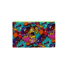 Monster Patterns Cosmetic Bag (xs) by BangZart