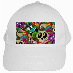Crazy Illustrations & Funky Monster Pattern White Cap by BangZart