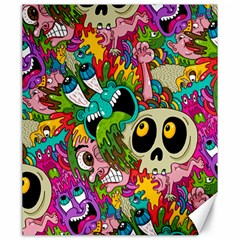 Crazy Illustrations & Funky Monster Pattern Canvas 20  X 24   by BangZart