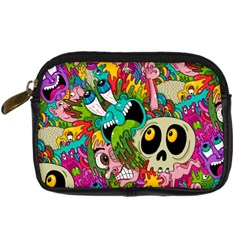 Crazy Illustrations & Funky Monster Pattern Digital Camera Cases by BangZart