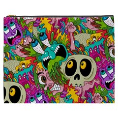 Crazy Illustrations & Funky Monster Pattern Cosmetic Bag (xxxl)  by BangZart