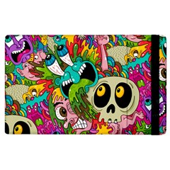 Crazy Illustrations & Funky Monster Pattern Apple Ipad 2 Flip Case by BangZart