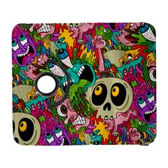 Crazy Illustrations & Funky Monster Pattern Galaxy S3 (flip/folio) by BangZart