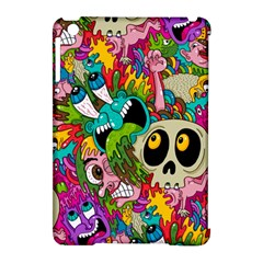 Crazy Illustrations & Funky Monster Pattern Apple Ipad Mini Hardshell Case (compatible With Smart Cover) by BangZart