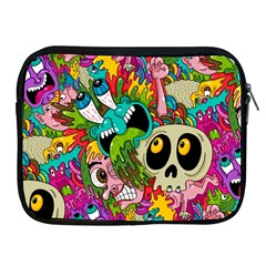 Crazy Illustrations & Funky Monster Pattern Apple Ipad 2/3/4 Zipper Cases by BangZart