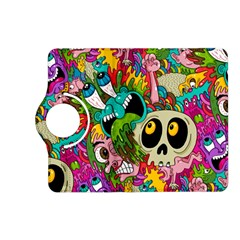 Crazy Illustrations & Funky Monster Pattern Kindle Fire Hd (2013) Flip 360 Case by BangZart