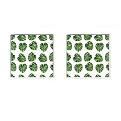Leaf Pattern Seamless Background Cufflinks (square) by BangZart