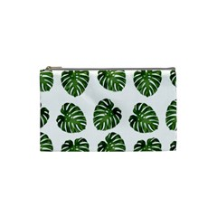 Leaf Pattern Seamless Background Cosmetic Bag (small)  by BangZart