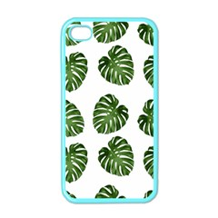 Leaf Pattern Seamless Background Apple Iphone 4 Case (color) by BangZart