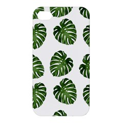Leaf Pattern Seamless Background Apple Iphone 4/4s Premium Hardshell Case by BangZart