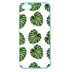 Leaf Pattern Seamless Background Apple Seamless Iphone 5 Case (color) by BangZart
