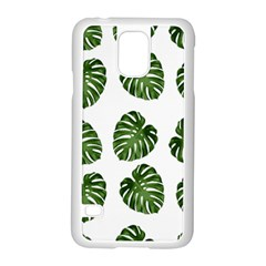 Leaf Pattern Seamless Background Samsung Galaxy S5 Case (white) by BangZart