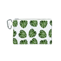 Leaf Pattern Seamless Background Canvas Cosmetic Bag (s) by BangZart