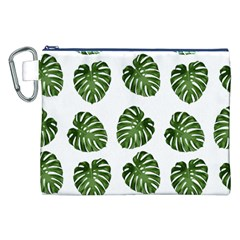Leaf Pattern Seamless Background Canvas Cosmetic Bag (xxl) by BangZart